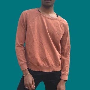 Loose rust color vintage sweatshirt MED